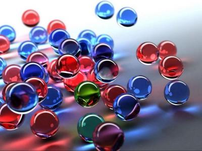 3D Glass marbles ppt backgrounds