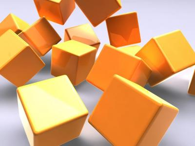 3D Gold cubes ppt backgrounds