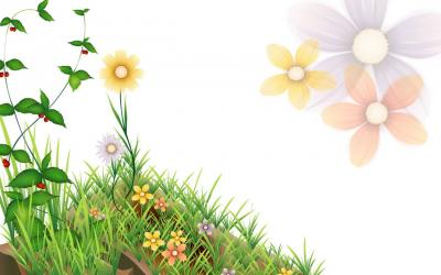 Animated flower powerpoint template ppt backgrounds