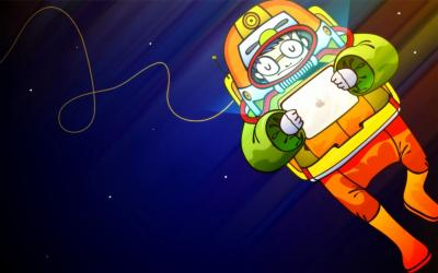 Astronaut ipad ppt backgrounds