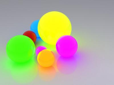 Colorful balls ppt backgrounds