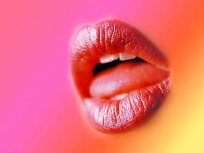 Hot Lips ppt backgrounds