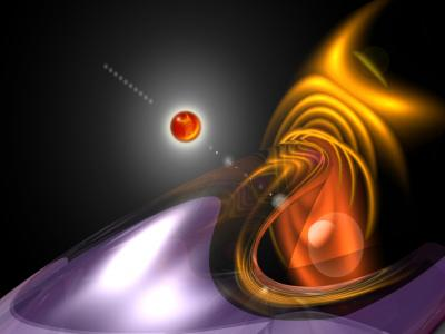 Red Solar Flare ppt backgrounds