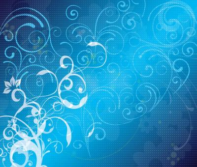 Blue floral powerpoint design ppt backgrounds