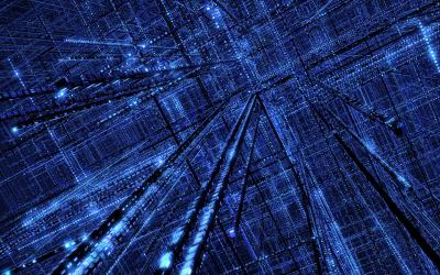 Blue Grid ppt backgrounds