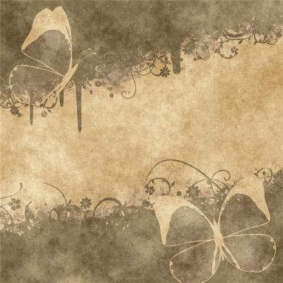 Butterfly old vintage ppt backgrounds