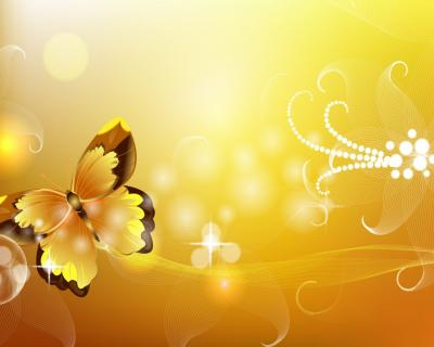 Butterfly orange abstract ppt backgrounds