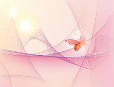 Butterfly spring wave ppt backgrounds