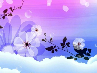 Abstract flowers design, clouds, colorful ppt backgrounds