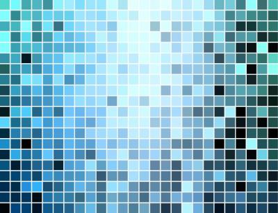 Square mosaic pixels ppt backgrounds