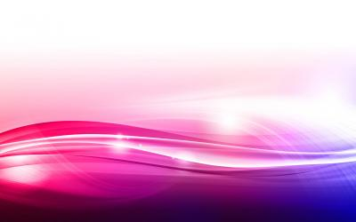 White pink waves abstraction ppt backgrounds