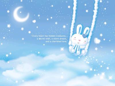 Cute rabbit ppt backgrounds