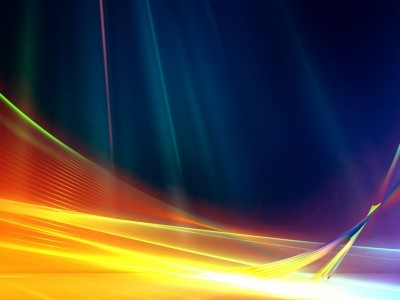 Aurora colorful wave design ppt backgrounds