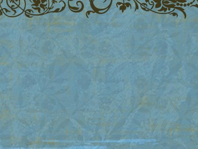 Blue floral vintage decoration ppt backgrounds