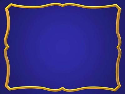 Blue gold frame ppt backgrounds
