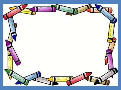 Crayon Border Frame ppt backgrounds