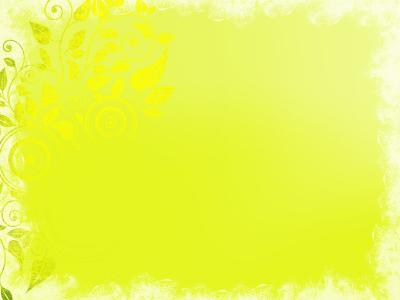 Floral yellow ornament frame ppt backgrounds