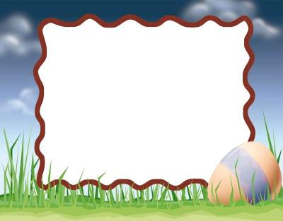 Nature easter frame ppt backgrounds