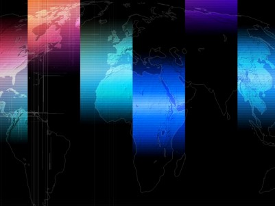 Business World Map ppt backgrounds