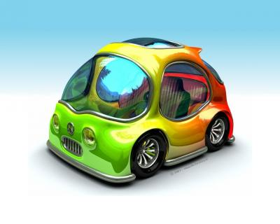 Funny Design Car Toon ppt backgrounds