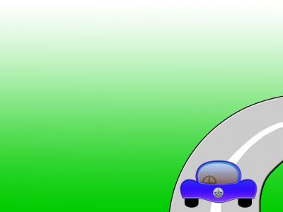 Green background blue car ppt backgrounds