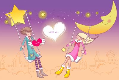 Cartoon Valentine ppt backgrounds