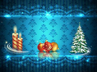 Christmas Gift Set ppt backgrounds