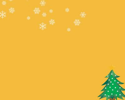 Christmas tree orange ppt backgrounds