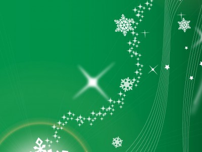 Christmas green light lines  ppt backgrounds