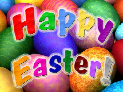 Colorful happy easter ppt backgrounds