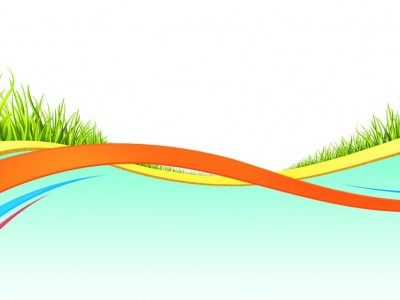 Colorful wave grass ppt backgrounds