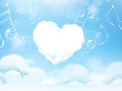 Heart sky ppt backgrounds