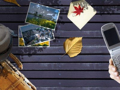 Composite photo art template ppt backgrounds