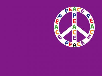 Multicultural Peace sign ppt backgrounds