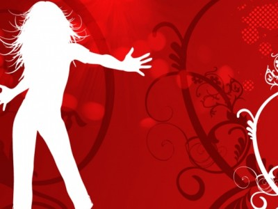 Dancing girl vector ppt backgrounds