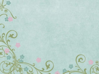Flower scroll blue ppt backgrounds