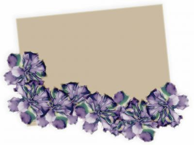 Beautiful floral border ppt backgrounds