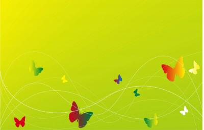 Elegant green bg with butterfly ppt backgrounds