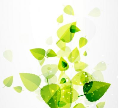 Green Leaves ppt backgrounds