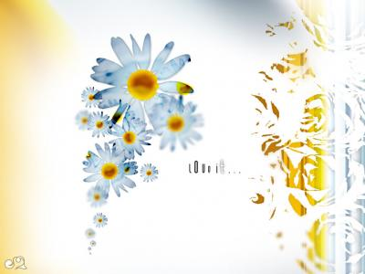 Love It Flowers ppt backgrounds
