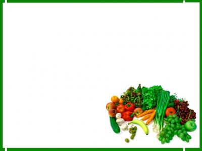 Green Foods ppt backgrounds