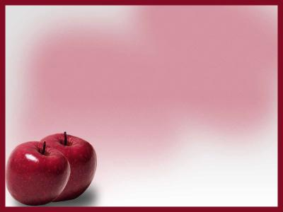 Red Apple ppt backgrounds