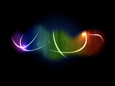 Glamour Rainbow Trails ppt backgrounds