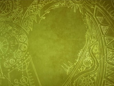 Green background secret of kells ppt backgrounds