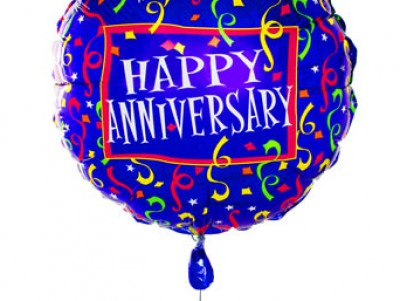 Happy anniversary balloon ppt backgrounds