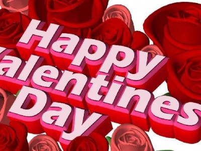 Happy valentine day red heart ppt backgrounds