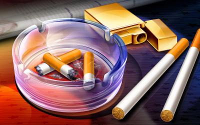 Stop smoking, cigarette ppt backgrounds