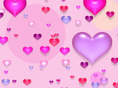 Hearts colorful patterns ppt backgrounds