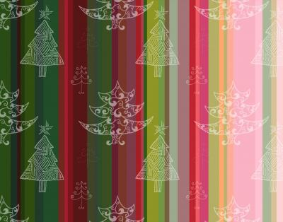 Christmas trees stripes colors ppt backgrounds