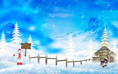Happy holidays christmas winter ppt backgrounds